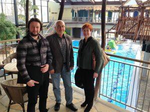14.02.2017: Daniel Arlitt und Petra Gümmer treffen sich mit Herrn Kirchhöfer zu einem Gespräch im Tropicana