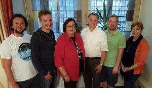 Nach der Mitgliederversammlung am 30.05.2017: Vorstand mit Bürgermeister Oliver Theiß